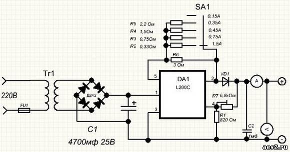 Зарядное устройство на l200c
