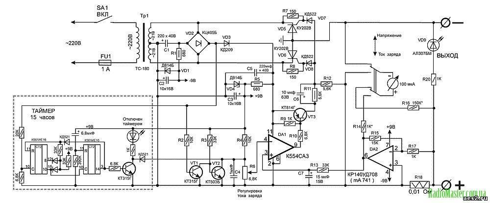 Автоматическое зарядное устройство для автомобильных аккумуляторов своими руками